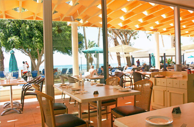 Aegean Coffee Is Located On The Beach Level It S Perfect Setting For A Meal Or Snack In Relaxing Atmosphere Offers An International